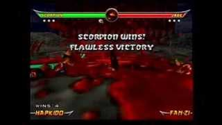 Mortal Kombat Armageddon - Sky Temple Death Trap On All Characters(Check out Mavado in Mortal Kombat Deadly Alliance's Konquest Mode Here! -