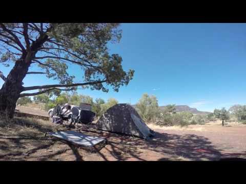 Setting up tent at Flinders Ranges