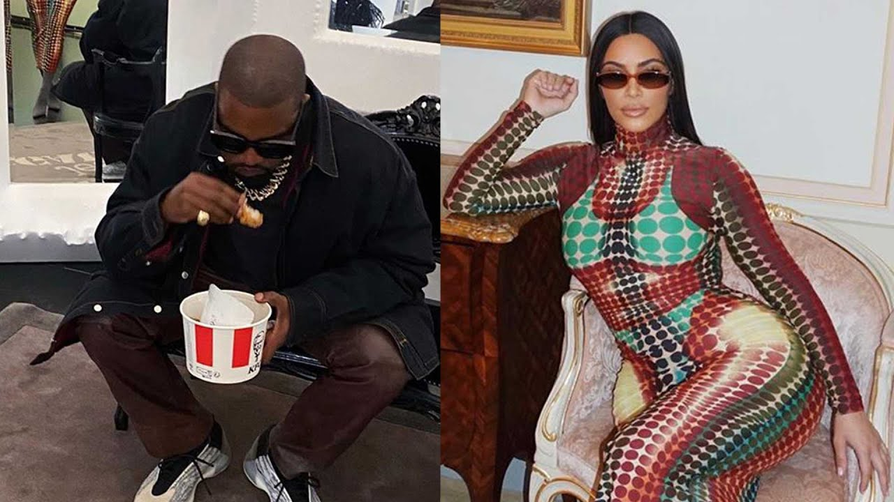Kim Kardashian and Kanye West Enjoy Elevator PDA and KFC in Paris