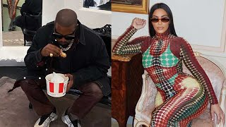 Kim Kardashian and Kanye West Enjoy Elevator PDA and KFC in Paris
