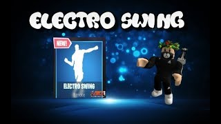 ! Electro Swing In Roblox! 😁Baile del Fortnite😃