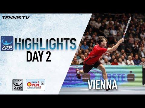 Highlights: Thiem, Carreno Busta Advance Tuesday Vienna 2017