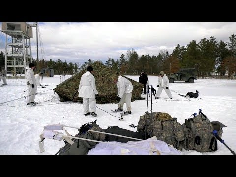 Soldiers Cold Weather Tent Setup