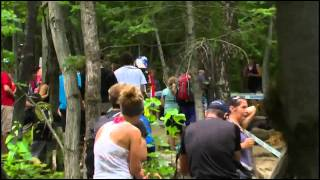 Rachel Atherton crash @ Mont Sainte Anne Downhill WC#4 2013