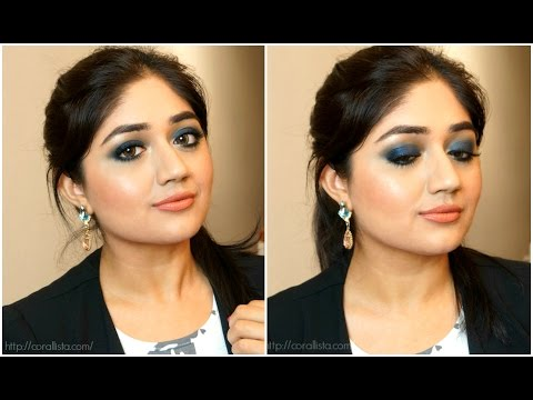 Blue Smoky Eyes with Nude Lips – Makeup Tutorial | corallista