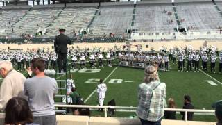 2015 Spartan Marching Band Postgame - MSU vs. CMU - Everybody