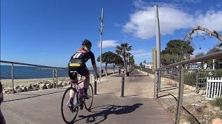 Cambrils Spain Sunshine Beach Indoor Cycling Video 60 Minute Full HD Motivation