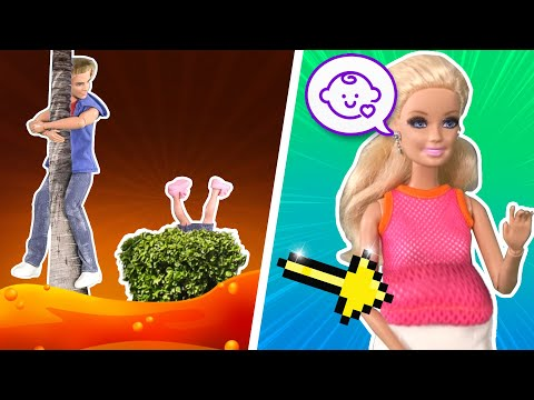 Barbie - The Floor is Lava Challenge and Barbie's Baby Surprise | Ep.122