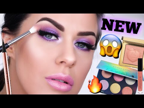 GET READY WITH ME!! | TESTING A FULL FACE OF NEW MAKEUP!! FENTY, TOO FACED, ABH & MORE!!