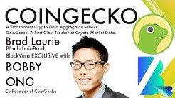 Coingecko   Crypto Interview   Bobby Ong   Crypto Data Aggregator   BlockVera   BlockchainBrad