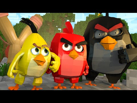 Minecraft | ANGRY BIRDS MOVIE! Angry Birds Mod Showcase! (Pigs, Leonard, Angry Birds Mod)