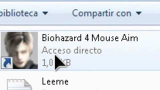 como jugar con el mouse al resident evil 4