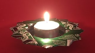 How To Recycle An Aluminium Can Into A Candle Holder - Diy Crafts Tutorial - Guidecentral