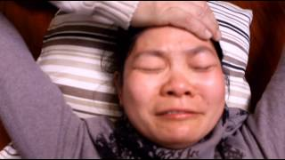 Chinese lady speaking in tongues in English