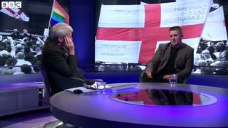 Newsnight:  Tommy Robinson On Why He Quit English Defence League