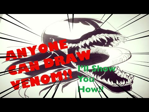ANYONE CAN DRAW VENOM!  I'll show you how!