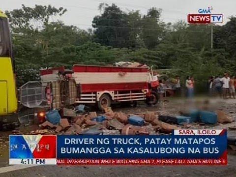Driver ng truck, patay matapos bumangga sa kasalubong na bus