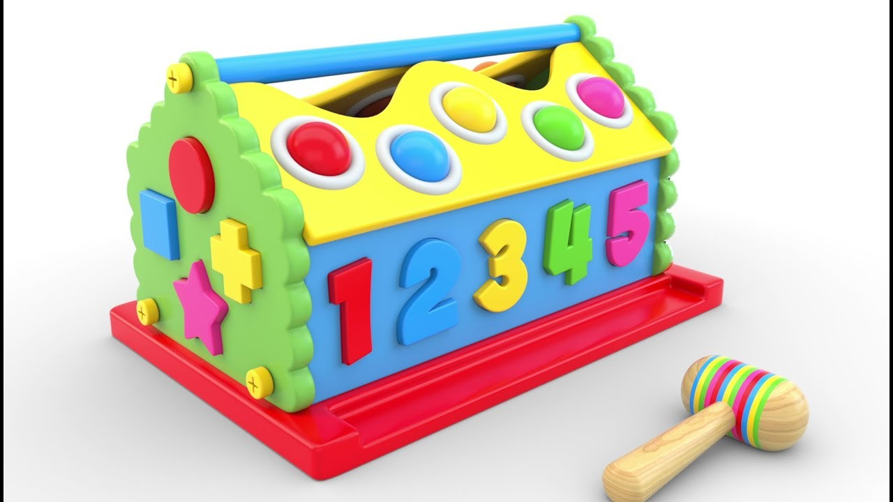 Learn Colors, Numbers and Shapes with Wooden Hammer ...