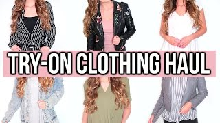 TRY-ON SPRING + SUMMER CLOTHING HAUL!