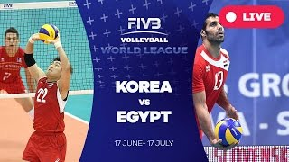 Korea v Egypt - Group 2: 2016 FIVB Volleyball World League