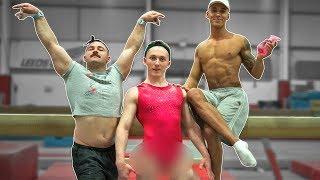 MEN TRY 'WOMENS' GYMNASTICS CHALLENGE {Good Luck}