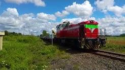 Tavarajuna tulossa Bolidenin tehtaalta. Mastojentien tasoristeys, Pori (4K)