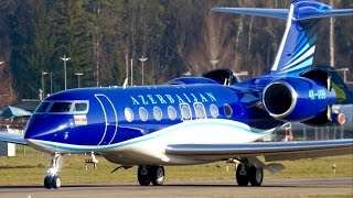 Gulfstream G650ER * Azerbaijan Government * Take-Off at Bern Airport