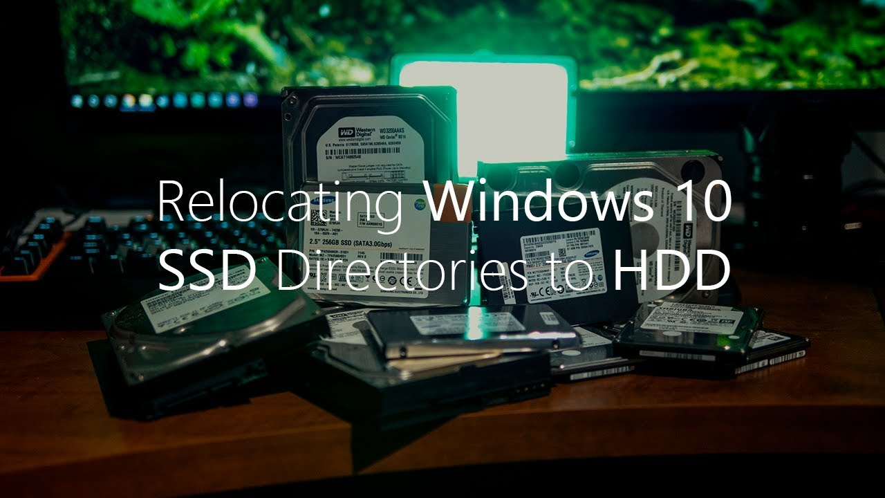 how to move windows files from ssd to hdd