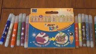 Фломастеры BIC Mini Colour & Create 12 цветов шт распаковка и обзор товара