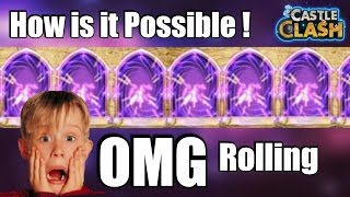 castle clash : most epic rolling [lucky roll]
