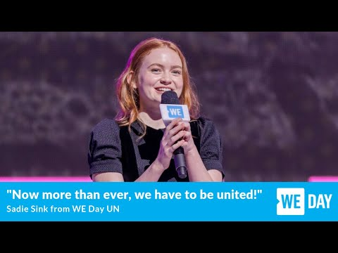 Stranger Things' Sadie Sink speaks at WE Day UN