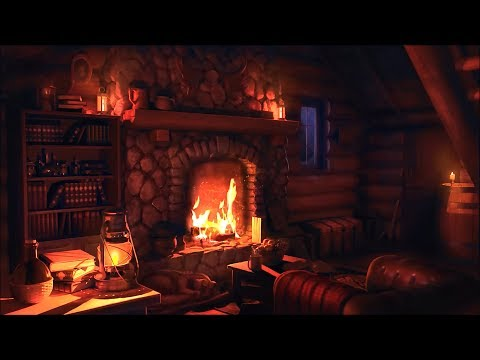 Wood Cabin Ambience | Blizzard and Snowstorm Sounds