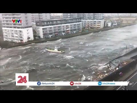 """Khung cảnh """"như ngày tận thế"""" khi cơn bão Jebi đổ bộ vào Nhật Bản   VTV24"""