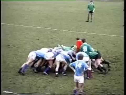 North of England v Midlands Colts Rugby 1986