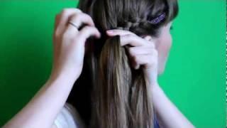 Прическа своими руками из 2-х ажурных кос