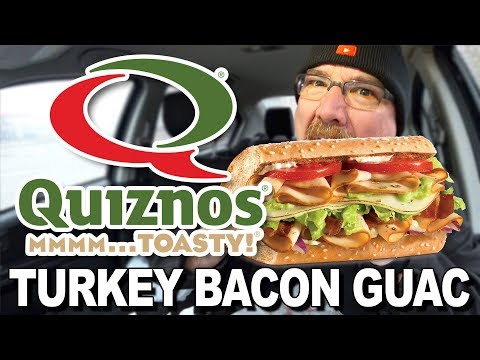 Quiznos ������ Turkey Bacon Guacamole | Food Review