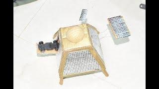 3D model of Chandrayaan 2 ISRO Vikram lander orbiter Indian space rocket 🚀 school project