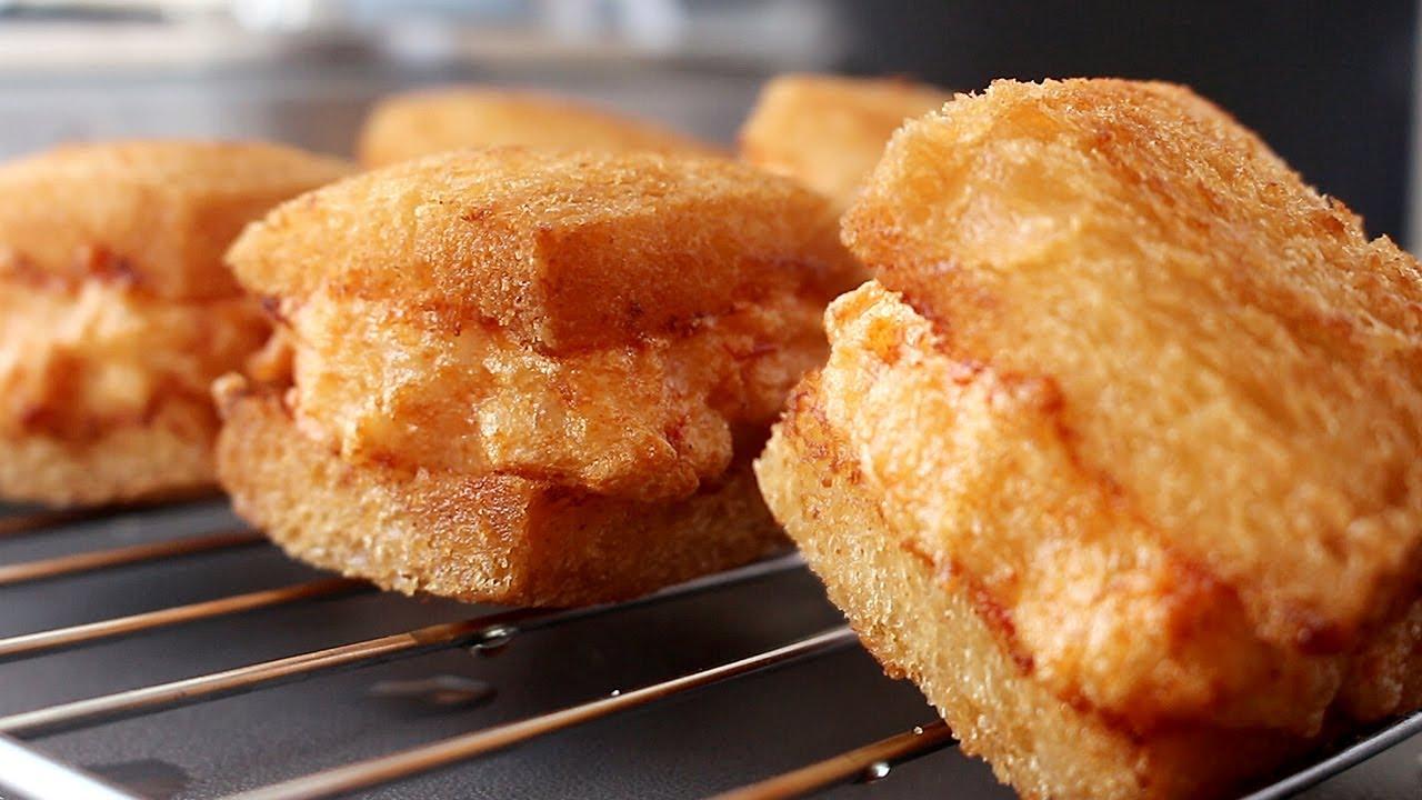 멘보샤 레시피 Menbosha Recipe Korean Chinese Fried Shrimp Toast Mian Bao Xia 韩国料理 아줌마 Ajumma Youtube