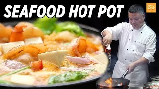 Delicious Chinese Seafood Tofu Stew • Taste The Chinese Recipes Show