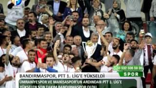 Kanal Fırat Spor - Bandırmaspor PTT 1. Lig'e Yükseldi