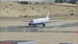 Croatia Airlines airbus A320 landing in Mostar (LQMO) FSX