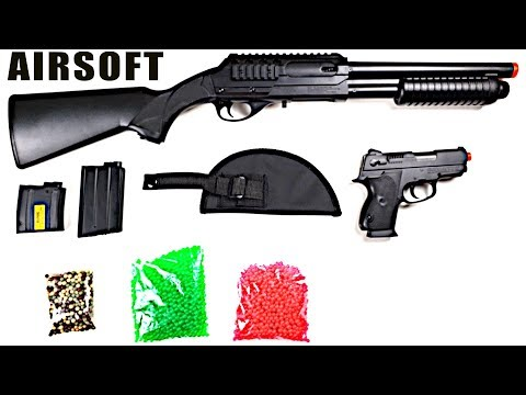 CHEAP Airsoft Shotgun And Pistol Kit - IS IT WORTH IT?