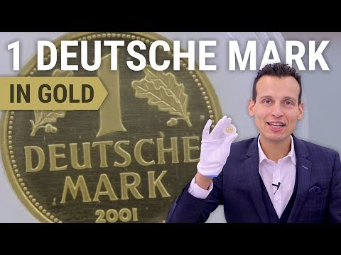 12 g Goldmark - 1 Deutsche Mark 2001 in Feingold