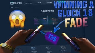 Winning a Glock Fade out of a 13$ case!! (Dropgun.com case opening)
