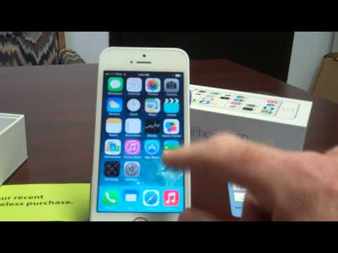 Straight Talk iPhone 5s Unboxing and Initial Setup