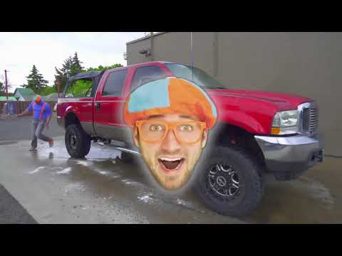 Blippi Toys! Blippi Truck Wash Truck Videos For Children By Blippi