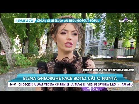 Elena Gheorghe face Botez cât o nuntă Sora Elenei: Este nromal să am emoții pentru că este sor