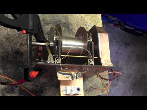 Test of the brakes of a rc tug winch