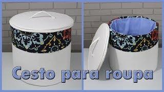 CESTO DE PAPELÃO PARA ROUPA SUJA – DIY CESTO
