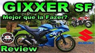 Prueba GIXXER SF  Suzuki | Review | Mejor que la Yamaha Fazer?  en Español con Blitz Rider